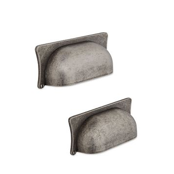 IT Kitchens Antique Pewter Effect Cup Cabinet Handle, Pack of 2