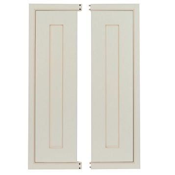 Cooke & Lewis Woburn Framed Tall Corner Wall Door (W)625mm, Set of 2
