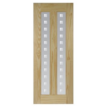 2 Panel Clear Pine Internal Door, (H)2032mm (W)813mm