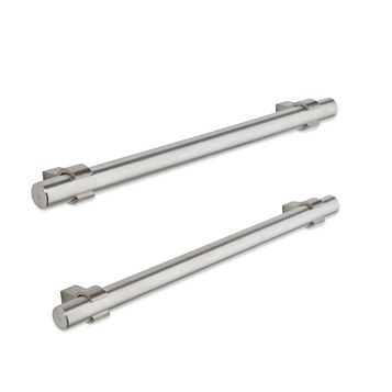 Brushed Nickel Effect Bar Cabinet Handle, Pack of 2