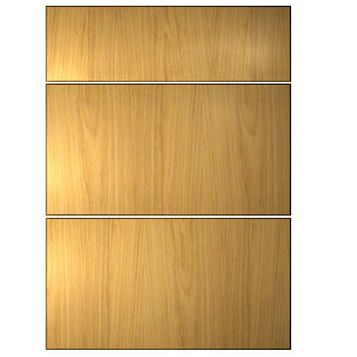 IT Kitchens Sandford Walnut Effect Modern Drawer Front (W)500mm, Set of 3