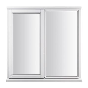 Glazed Timber LH Side Hung with Fixed Lite Casement Window 895 x 910 mm