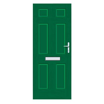 Downing Green GRP 6 Panel LH Front Door & Frame 2055 x 920 mm