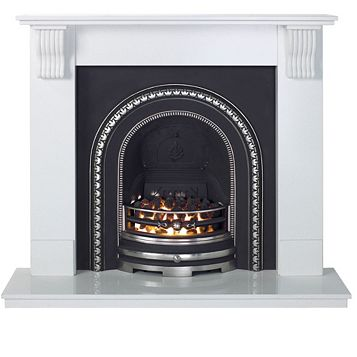 Aurora Victoria White Inset Electric Fire Suite