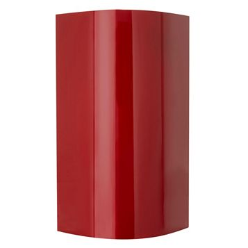 Cooke & Lewis High Gloss Red External Curved Door