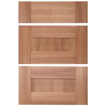 IT Kitchens Westleigh Walnut Effect Shaker Drawer Front (W)600mm, Set of 3
