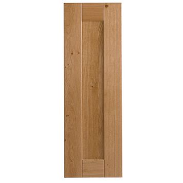 Cooke & Lewis Chesterton Solid Oak Tall Standard Door (W)300mm