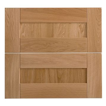 Cooke & Lewis Chesterton Solid Oak Tower Drawer Front (W)600mm, Set of 2