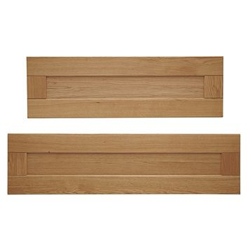 Cooke & Lewis Chesterton Solid Oak Tall Larder Door (W)300mm, Set of 2