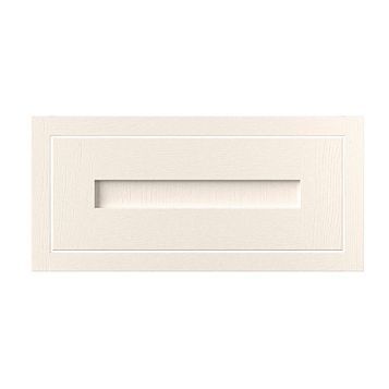 Cooke & Lewis Carisbrooke Ivory Framed Bridging Door (W)600mm