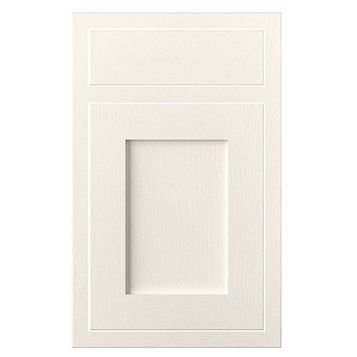 Cooke & Lewis Carisbrooke Ivory Framed Drawerline Door & Drawer Front (W)450mm, Set of 1 Door & 1 Drawer Pack