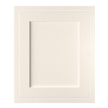 Cooke & Lewis Carisbrooke Ivory Framed Standard Door (W)600mm