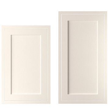 Cooke & Lewis Carisbrooke Ivory Framed Tall Larder Door (W)600mm, Set of 2