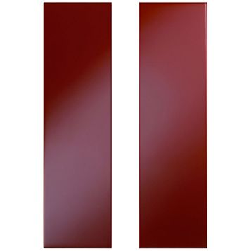 Cooke & Lewis Raffello High Gloss Red Tall Corner Wall Door (W)625mm, Set of 2