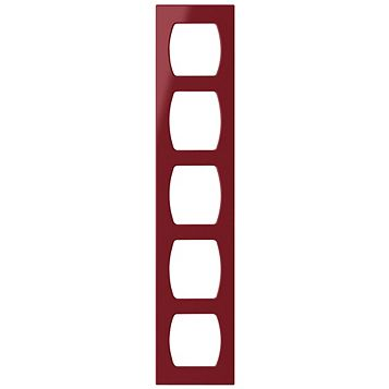 Cooke & Lewis Red Contemporary Wine Rack Frame, 150 x 18.5 x 720mm