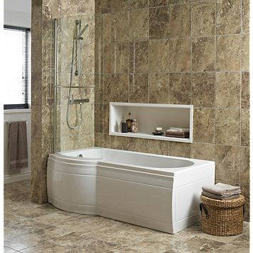 Cooke & Lewis Adelphi Curved Bath Screen