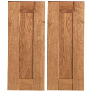 Cooke & Lewis Chesterton Solid Oak Corner Base (W)925mm, Set of 2