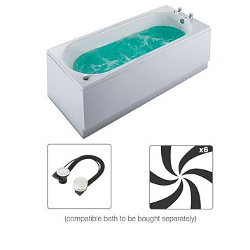Cooke & Lewis Luxury Whirlpool Wellness Spa System with Chrome Controls