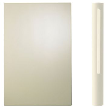 Cooke & Lewis Curved Base Pilaster Kit High Gloss Cream (H)900mm (W)70mm (D)590mm