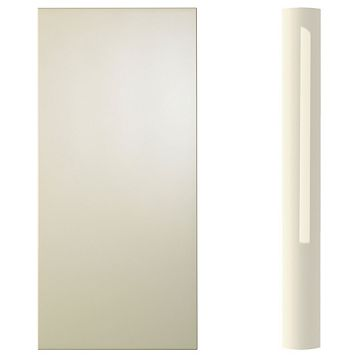 Cooke & Lewis Curved Wall Pilaster Kit High Gloss Cream (H)757mm (W)70mm (D)355mm