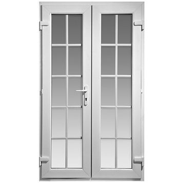 4ft Georgian Clear Glazed PVCu External French Door Set, (H)2055mm (W)1190mm