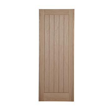 Cottage Framed Ledged And Braced Oak Veneer Internal Door, (H)1981mm (W)610mm