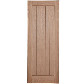 Cottage Panelled Oak Veneer Internal Door, (H)1981mm (W)762mm