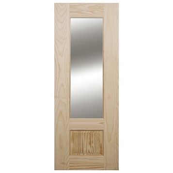 2 Panel Clear Pine Internal Door, (H)1981mm (W)838mm