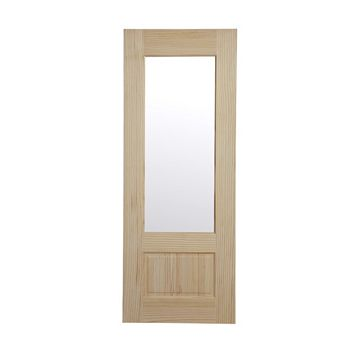 2 Panel Clear Pine Glazed Internal Door, (H)1981mm (W)686mm