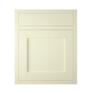 IT Kitchens Holywell Ivory Style Framed Drawerline Door & Drawer Front (W)600mm, Set of 1 Door & 1 Drawer Pack