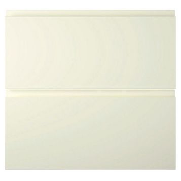 Cooke & Lewis Appleby High Gloss Cream Tower Drawer Front (W)600mm, Set of 2