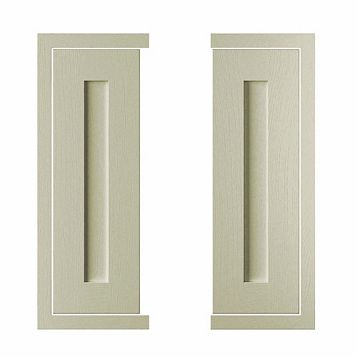 Cooke & Lewis Carisbrooke Taupe Framed Corner Door (W)625mm, Set of 2