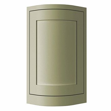 Cooke & Lewis Carisbrooke Taupe Framed Tall Wall CURVED Door