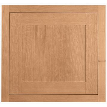 Cooke & Lewis Carisbrooke Oak Framed Fixed Frame Semi-Integrated Appliance Door (W)600mm