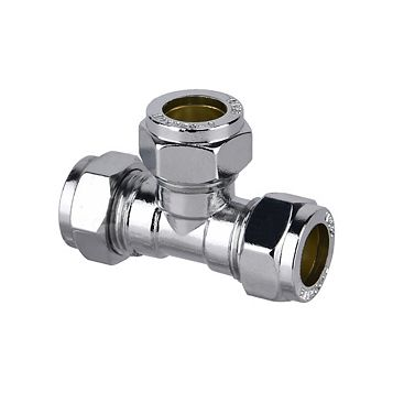 Plumbsure Compression Equal Tee (Dia)15mm