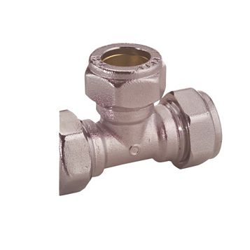 Plumbsure Compression Equal Tee (Dia)22 mm