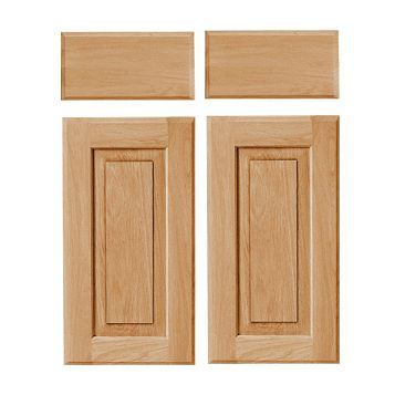 Cooke & Lewis Chesterton Solid Oak Classic Corner Base Drawerline Door (W)925mm, Set of 2