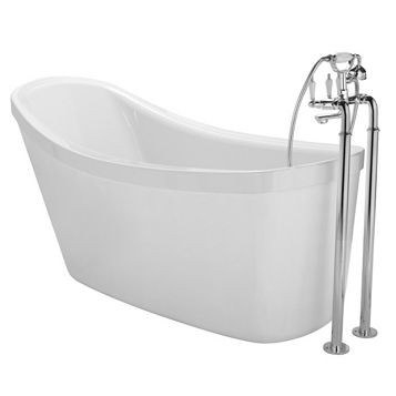 Cooke & Lewis Duchess Acrylic Oval Freestanding Bath (L)1500mm (W)810mm