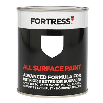 Fortress Interior & Exterior White Gloss Multipurpose Paint 0.25L