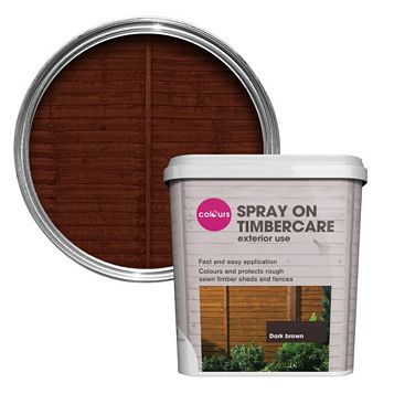 Colours Spray On Timbercare Dark Brown Shed & Fence Stain 5000ml
