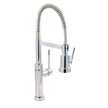 Cooke & Lewis Locone Chrome Effect Spring Neck Tap