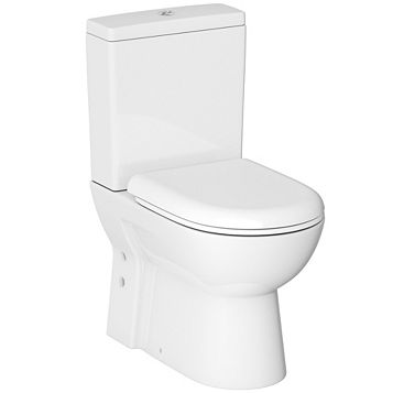 Cooke & Lewis Perdita Short Projection Close Coupled Toilet with Soft Close Seat