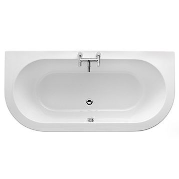 Cooke & Lewis Helena Supercast Acrylic Twin Ended Straight Bath (L)1700mm (W)800mm