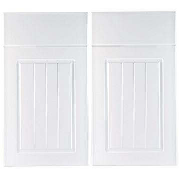IT Kitchens Chilton White Country Style Corner Base Drawer Line Door (W)925mm, Set of 2