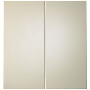 IT Kitchens Santini Gloss Cream Slab Corner Base (W)925mm, Set of 2