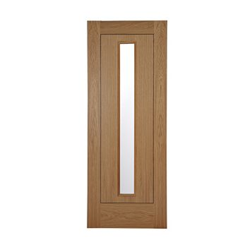 Flush 1 Panel Oak Veneer Internal Door, (H)1981mm (W)686mm