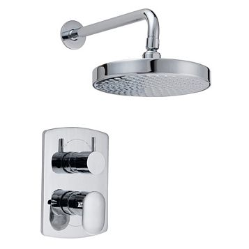 Cooke & Lewis Saru Rear Fed Chrome Thermostatic Dual Control Mixer Shower