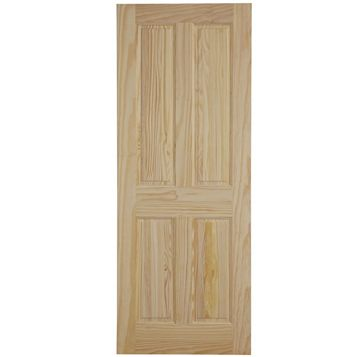 4 Panel Clear Pine Internal Door, (H)1981mm (W)838mm