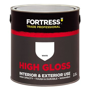 Fortress Trade Trade Gloss Paint White, 2.5L