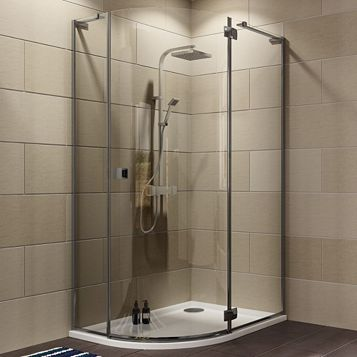Cooke & Lewis Luxuriant Offset Quadrant Shower Enclosure with Hinged Door (W)1200mm (D)900mm
